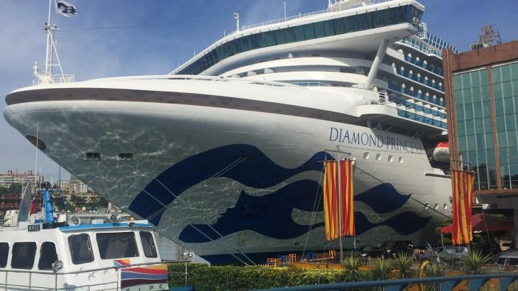 基隆港でダイヤモンドプリンセスに乗船です