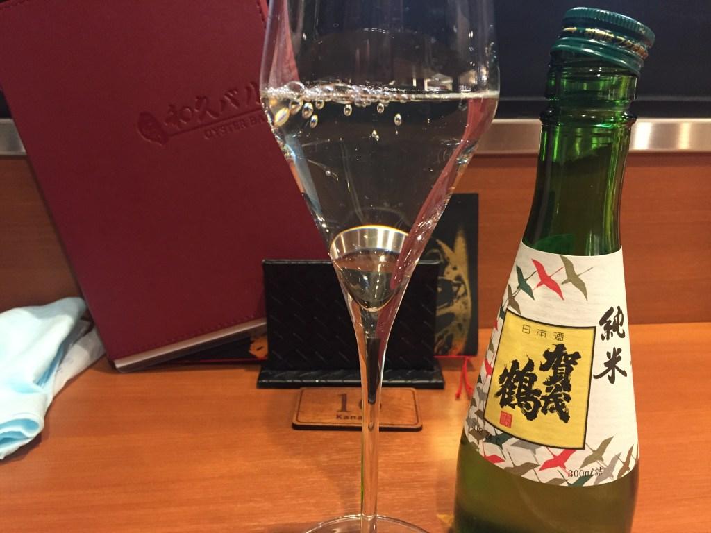 牡蠣の店「和久バル」の日本酒