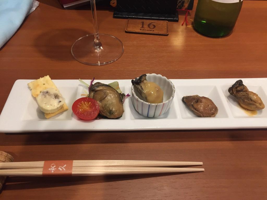 広島駅でおいしい牡蠣「和久バル」の牡蠣ざんまい