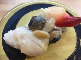 貝の三種盛り