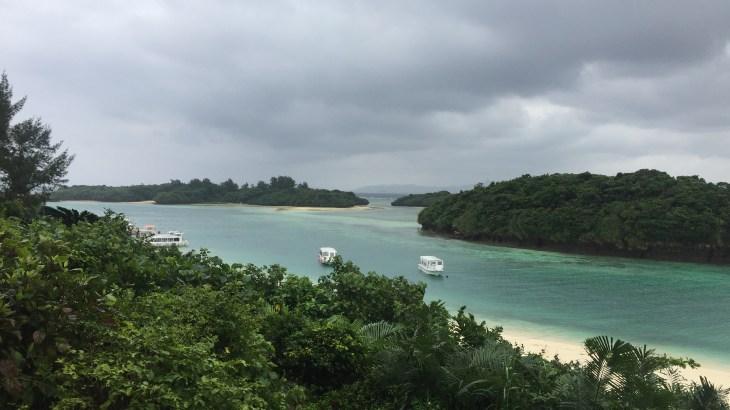 大雨の川平湾 石垣島ひとり旅