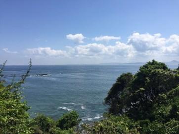 大浦海岸の植え方の眺め