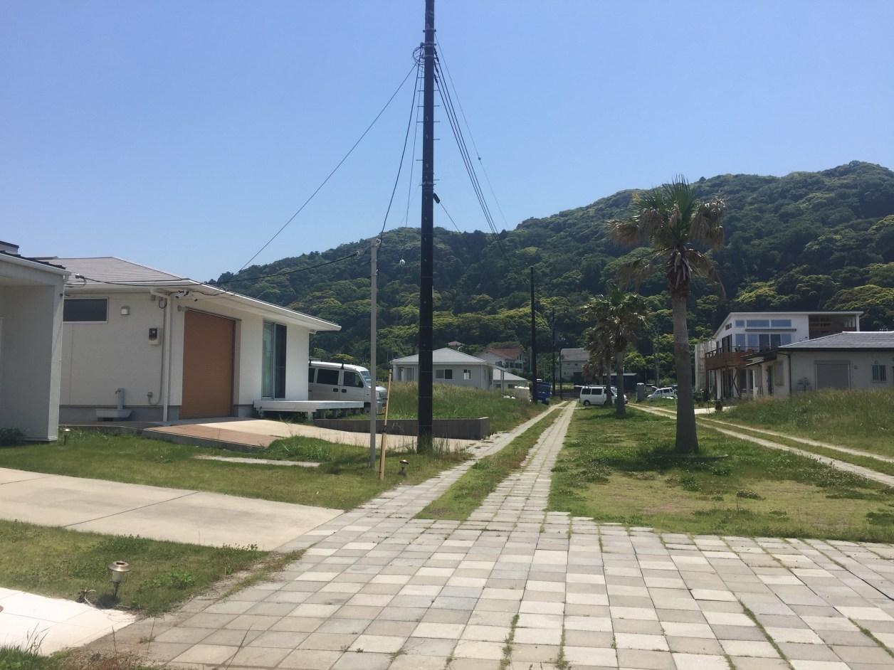 岩井海岸そばの別荘地