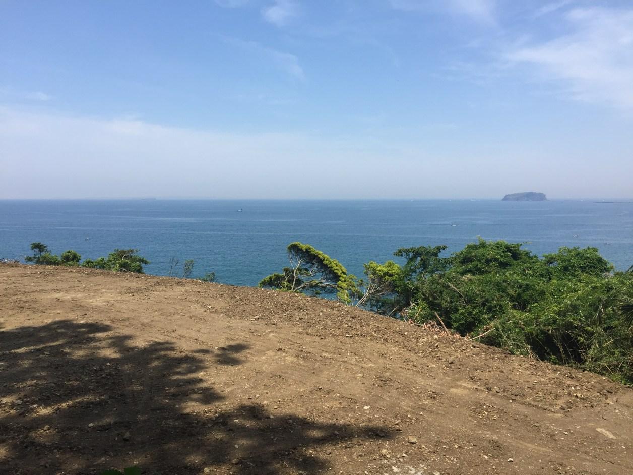 岩井海岸そばの整地