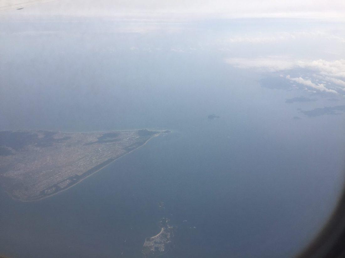 スカイマークエアラインより伊勢湾