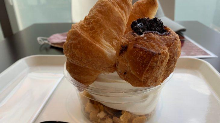 市川道の駅のカフェ【いちCafe】クロワッサンソフトでお腹いっぱい