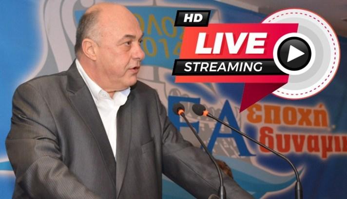 LIVE! ΔΕΙΤΕ ΖΩΝΤΑΝΑ: Ο Αχιλλέας Μπέος στην μεγάλη προεκλογική του συγκέντρωση - ομιλία στη Ν. Ιωνία