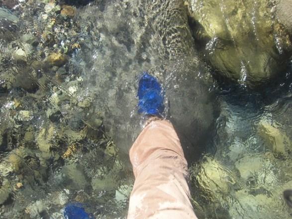渓流・源流釣りの始め方:足回り編『【ハイパーVソール】の作業靴を沢靴(ウエーディングシューズ)として使用』