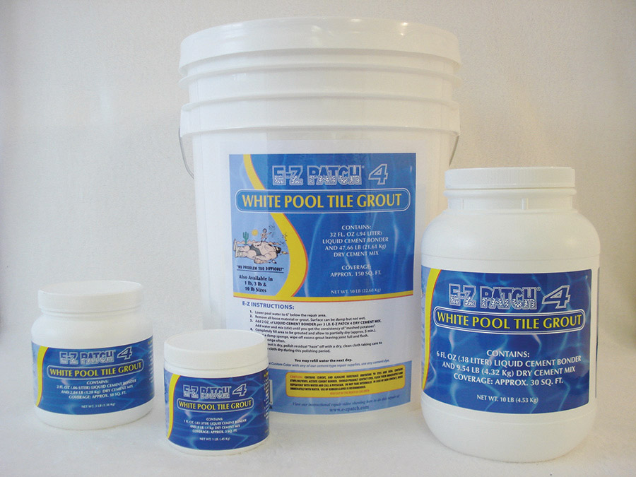 e z patch 4 white pool tile grout repair