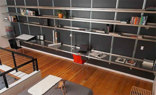 Shelving for Lofts        Shelving Systems by E Z Shelving Systems  Inc  Shelving for Lofts