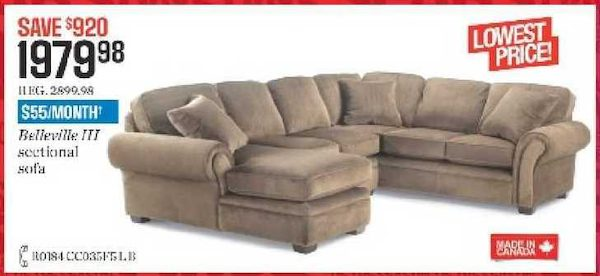 Sears Sectional Sofa Canada Sofas Okaycreations