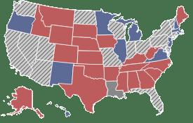 Senate map