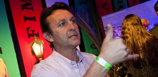 Ex-jogador e comentarista Neto em uma festa da TV Band
