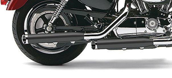 419 99 cobra slip on exhaust 3 inch black for harley fx 825568
