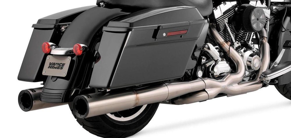 vance hines hi output duals full exhaust system for harley davidson touring