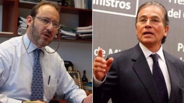 Los aspirantes a la primera vicepresidencia de Fuerza Popular y Peruanos Por el Kambio que participarán hoy en el debate técnico en el Cusco: José Chlimper y Martín Vizcarra.