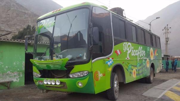 Según información policial es la tercera vez en el año que un vehículo de la Empresa Picaflor Tours es usado por pasajeros para trasladar droga.