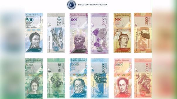 Venezuela presentó nuevos billetes con mayores denominación producto de la inflación.