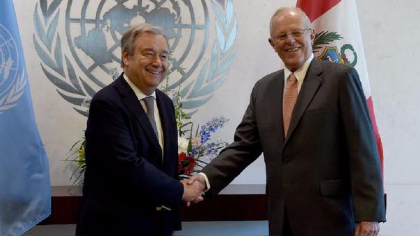 PPK elogió al secretario de la ONU, el portugués Antonio Guterres, a quien calificó como una persona