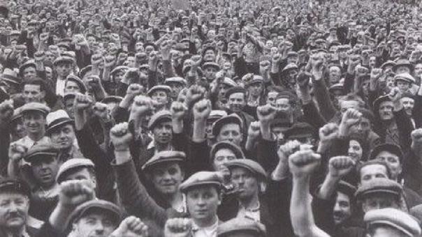 Las marchas por las ocho horas de trabajo fueron multitudinarias en Estados Unidos.