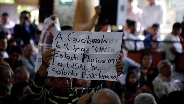 Simpatizantes de Evo Morales asistieron a la ceremonia.