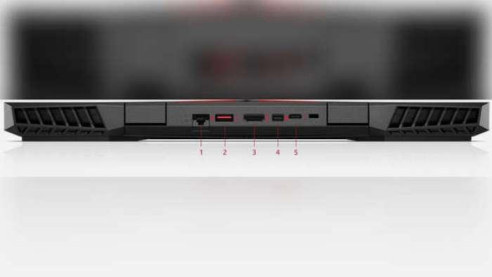 La Omen 15 cuenta con 1 puerto Ethernet, USB 3.0, HDMI 2.0, Mini DisplayPort compatible con Thunderbolt y USB-C
