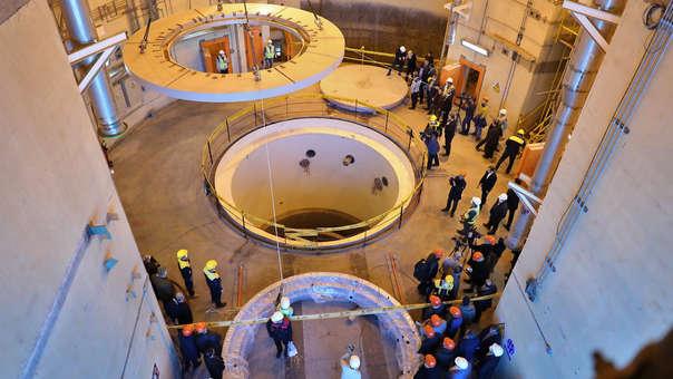 Vista del reactor nuclear de Arak, al sur de Teherán.  Francia, Reino Unido y Alemania son los tres países europeos que firmaron en 2015, junto a Estados Unidos, China y Rusia, el acuerdo con Irán sobre su programa nuclear.