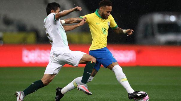 Diego Wayar marca a Neymar