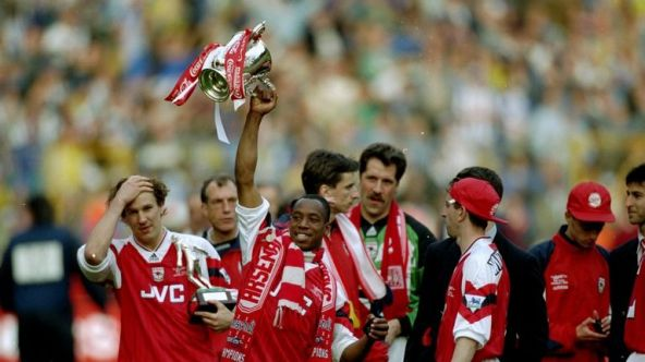 Image result for paul merson fa cup arsenal