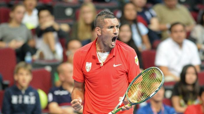 Nick Kyrgios helped the Singapore Slammers to victory over the Japan Warriors on Sunday at the IPTL