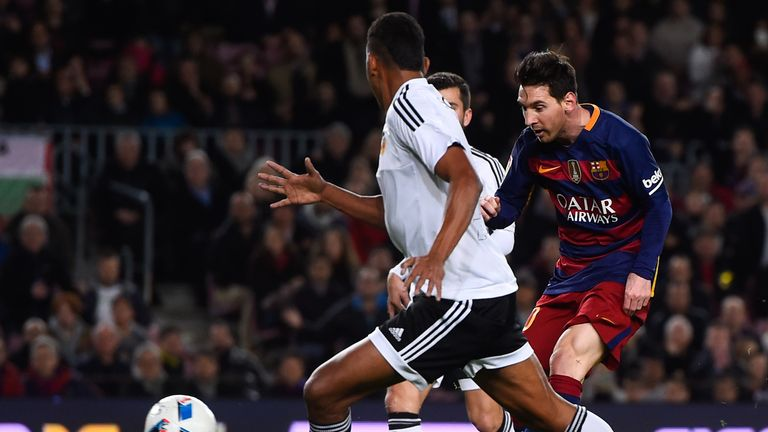 Messi scored a 500th career goal during Barcelona's 7-0 win