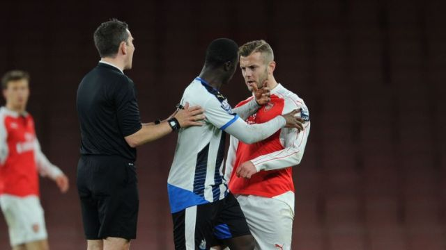 Wilshere clashed with Henri Saivet during Friday's match