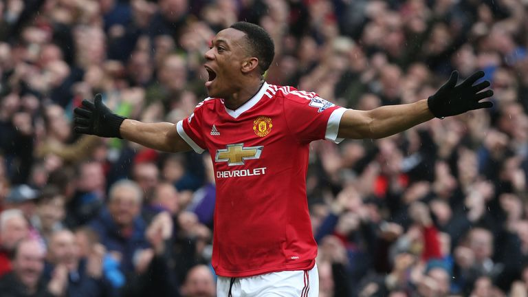 Anthony Martial was one of Manchester United's most important players in his debut season