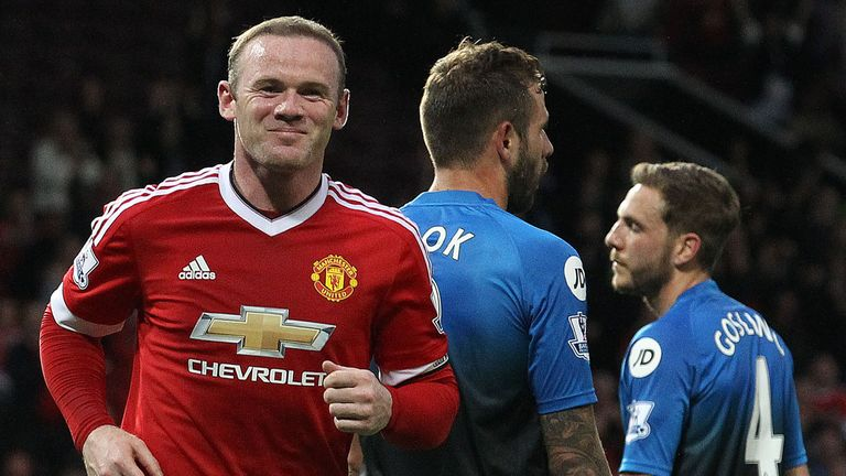 Rooney completed his century against Bournemouth