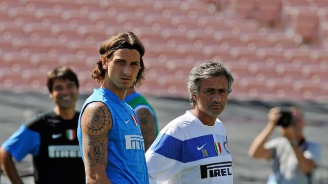 Ibrahimovic and Jose Mourinho worked together at Inter Milan
