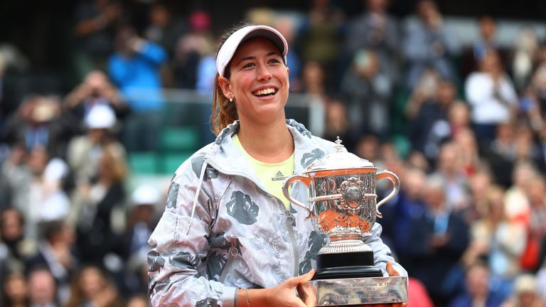 The French Open title was the only one of Garbiñe Muguruza's season