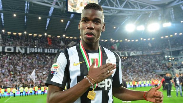 Pogba made 124 appearances for Juventus