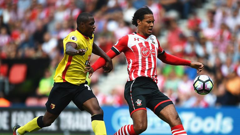 Virgil van Dijk has won more aerial duels than any other Premier League defender since he joined Southampton