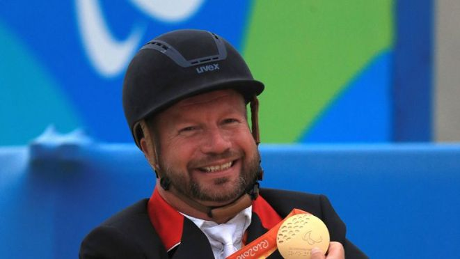 Great Britain's Lee Pearson now has 11 Paralympic gold medals