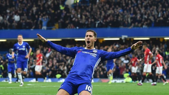 Eden Hazard has scored five league goals this season