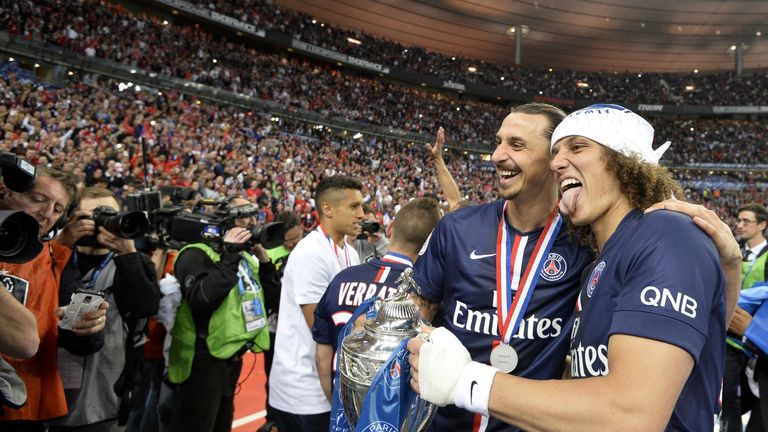 Ibrahimovic and Luiz enjoyed success together at PSG