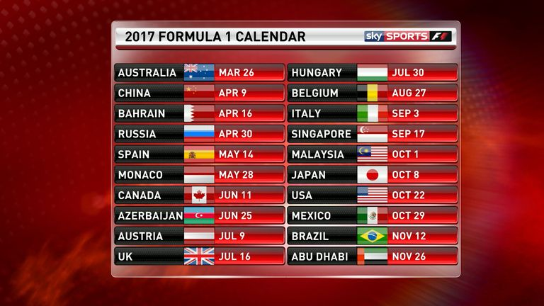 Image result for FIA confirms 2017 calendar