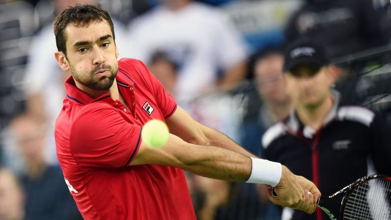 Marin Cilic beat Federico Delbonis in five sets to give Croatia the lead over Argentina in the Davis Cup final