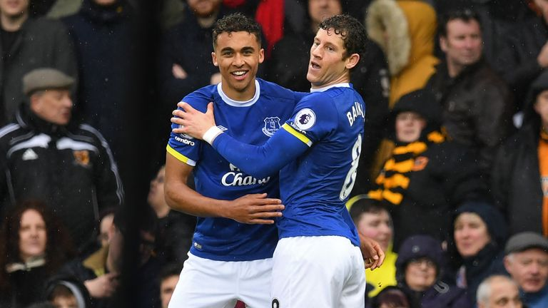 Dominic Calvert-Lewin scored the opening goal of the game for Everton