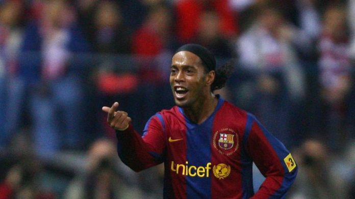 Ronaldinho joined Barcelona in 2003 and won the Balon d'Or in 2005