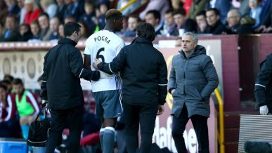 Paul Pogba was substituted late on during Sunday's win at Burnley