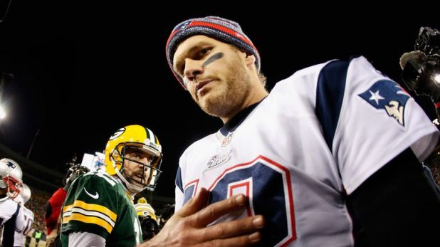 Future Hall of Famers Aaron Rodgers and Tom Brady have played each other only once before