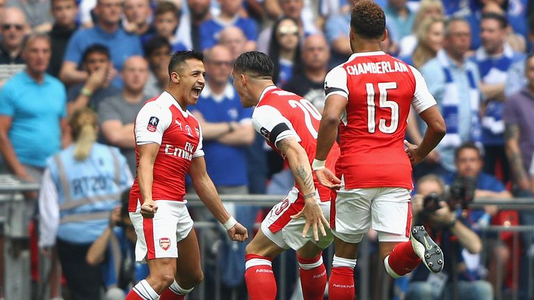 Sanchez has not played for Arsenal since scoring in their FA Cup final triumph