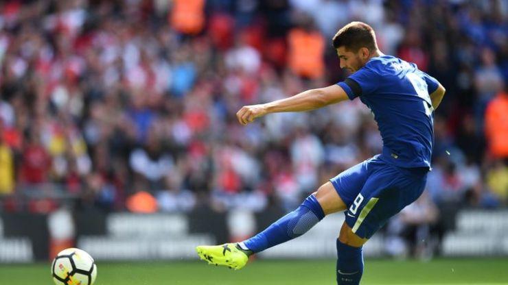 Alvaro Morata misses from the spot against Arsenal at Wembley
