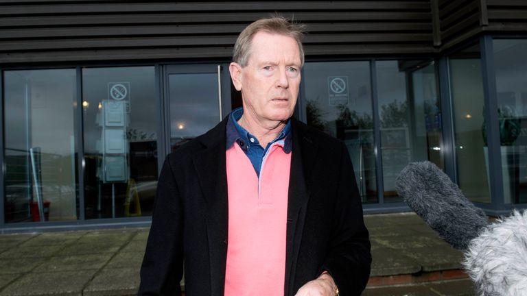 Rangers chairman Dave King leaves Ibrox